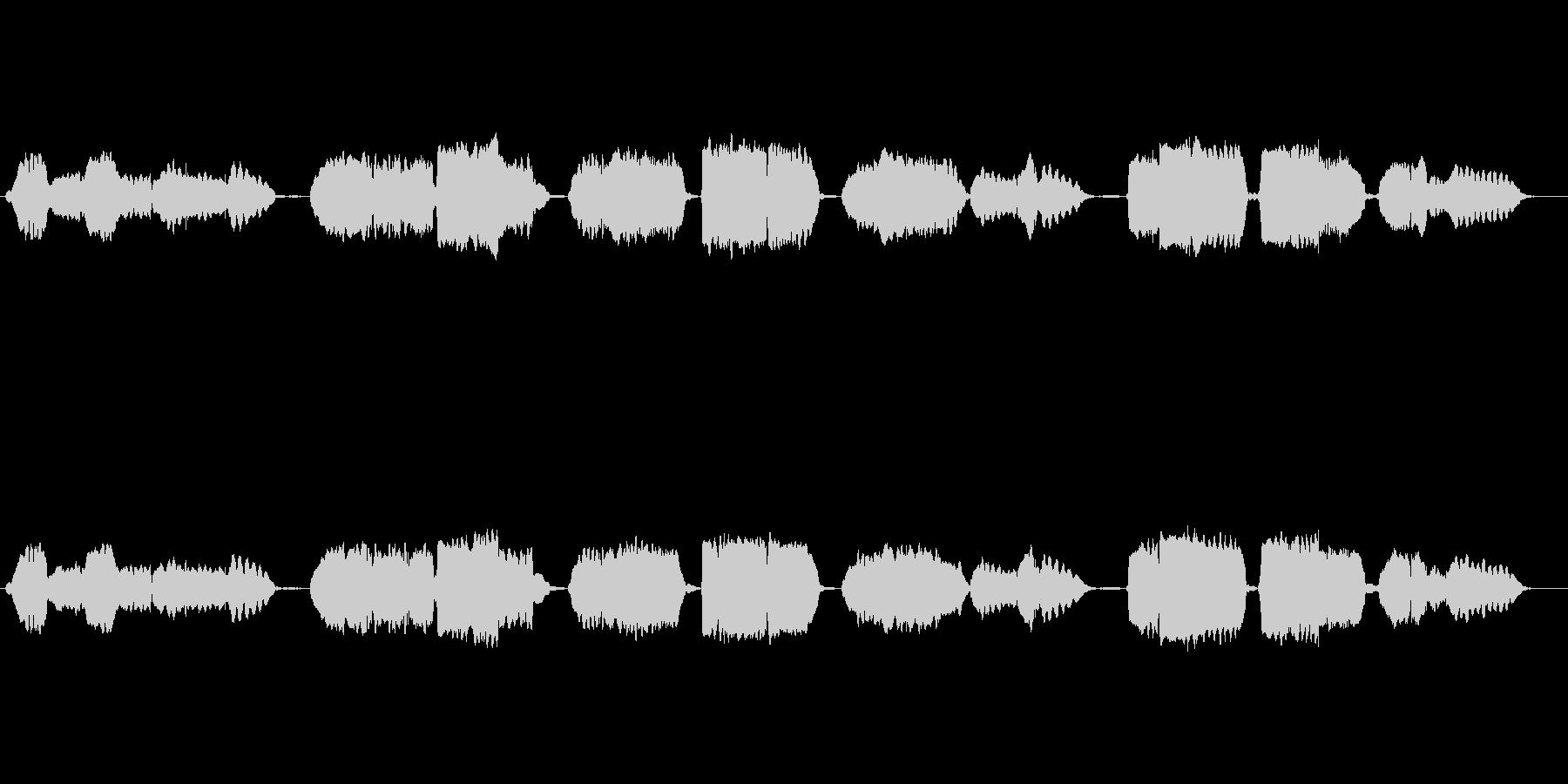 日本国歌「君が代」の篠笛独奏の未再生の波形