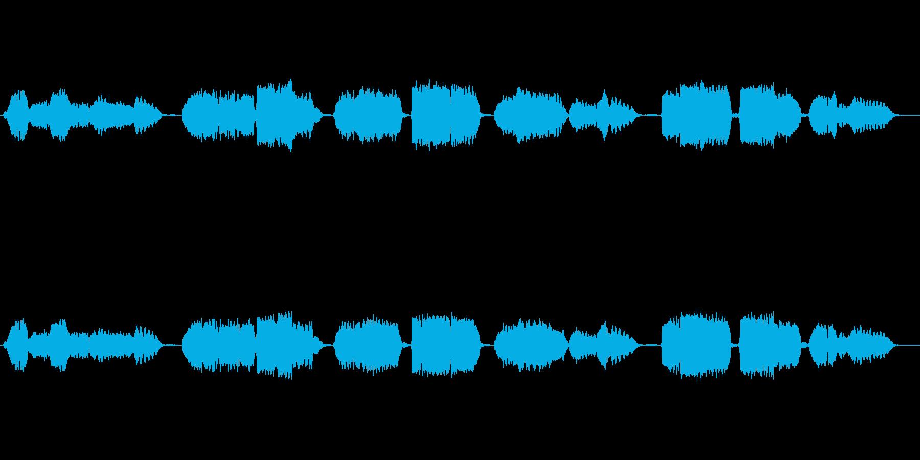 日本国歌「君が代」の篠笛独奏の再生済みの波形