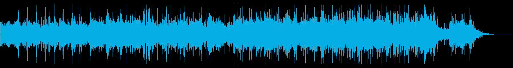 ピアノのアルペジオの穏やかな曲の再生済みの波形