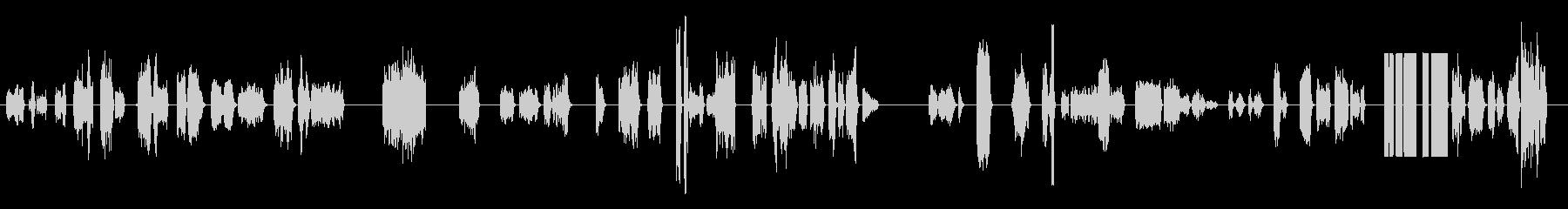 短いフランジ付き通信静的ブリップの未再生の波形