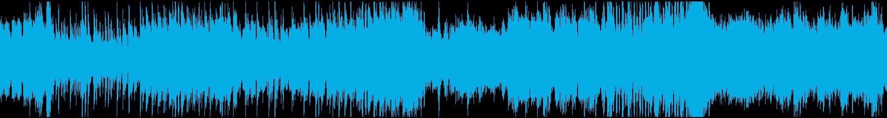 コミカルなハロウィン曲(ループ)の再生済みの波形