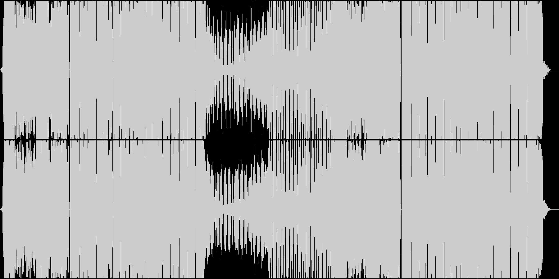 無機質でメタリックな近未来的サウンドの未再生の波形