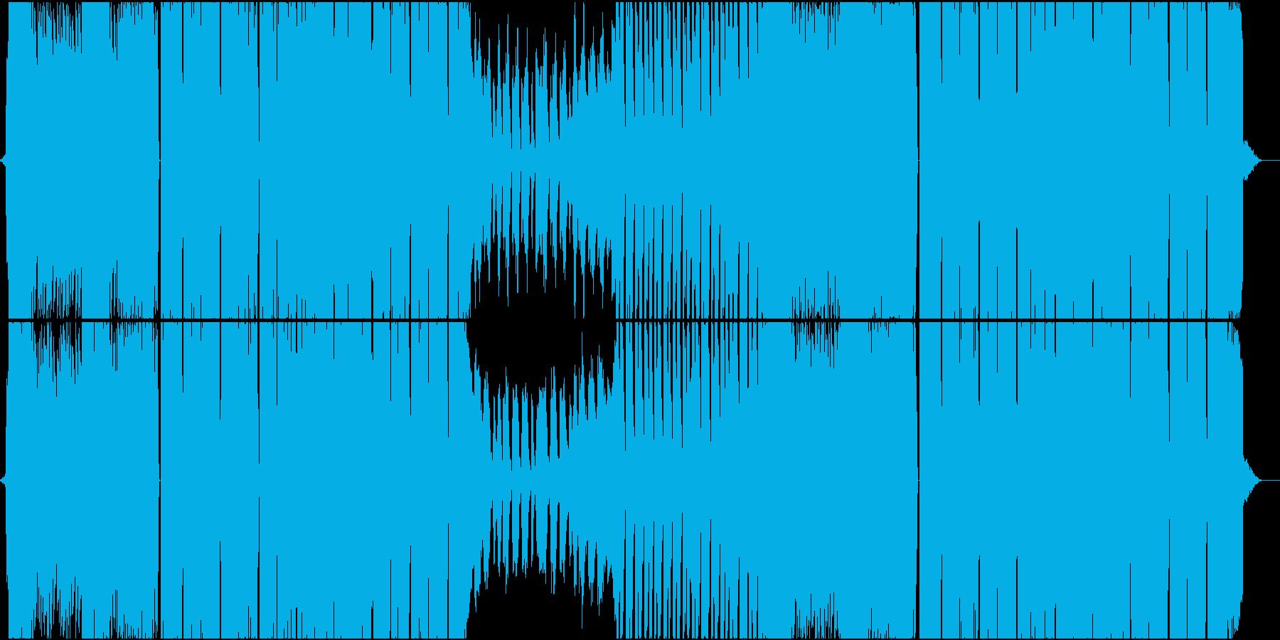 無機質でメタリックな近未来的サウンドの再生済みの波形