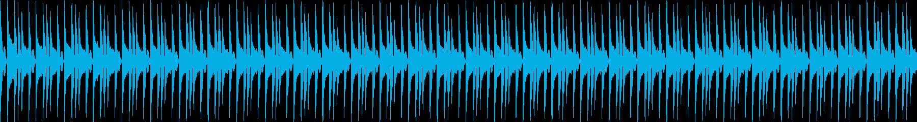 ロック風ブレイクビーツの再生済みの波形