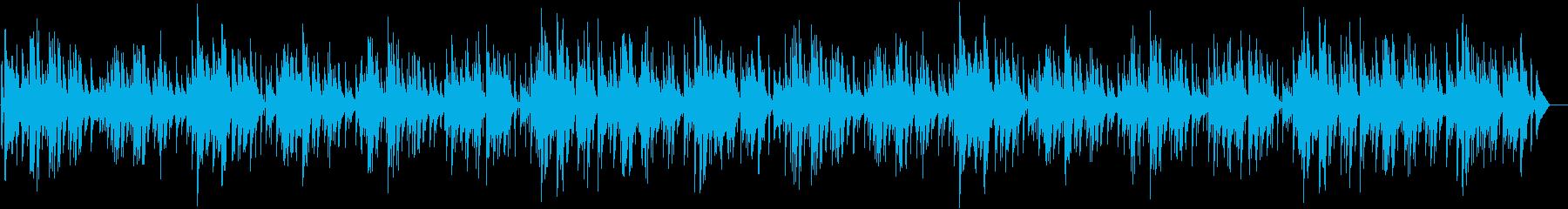 映像に合わせやすい可愛く軽快なピアノの再生済みの波形