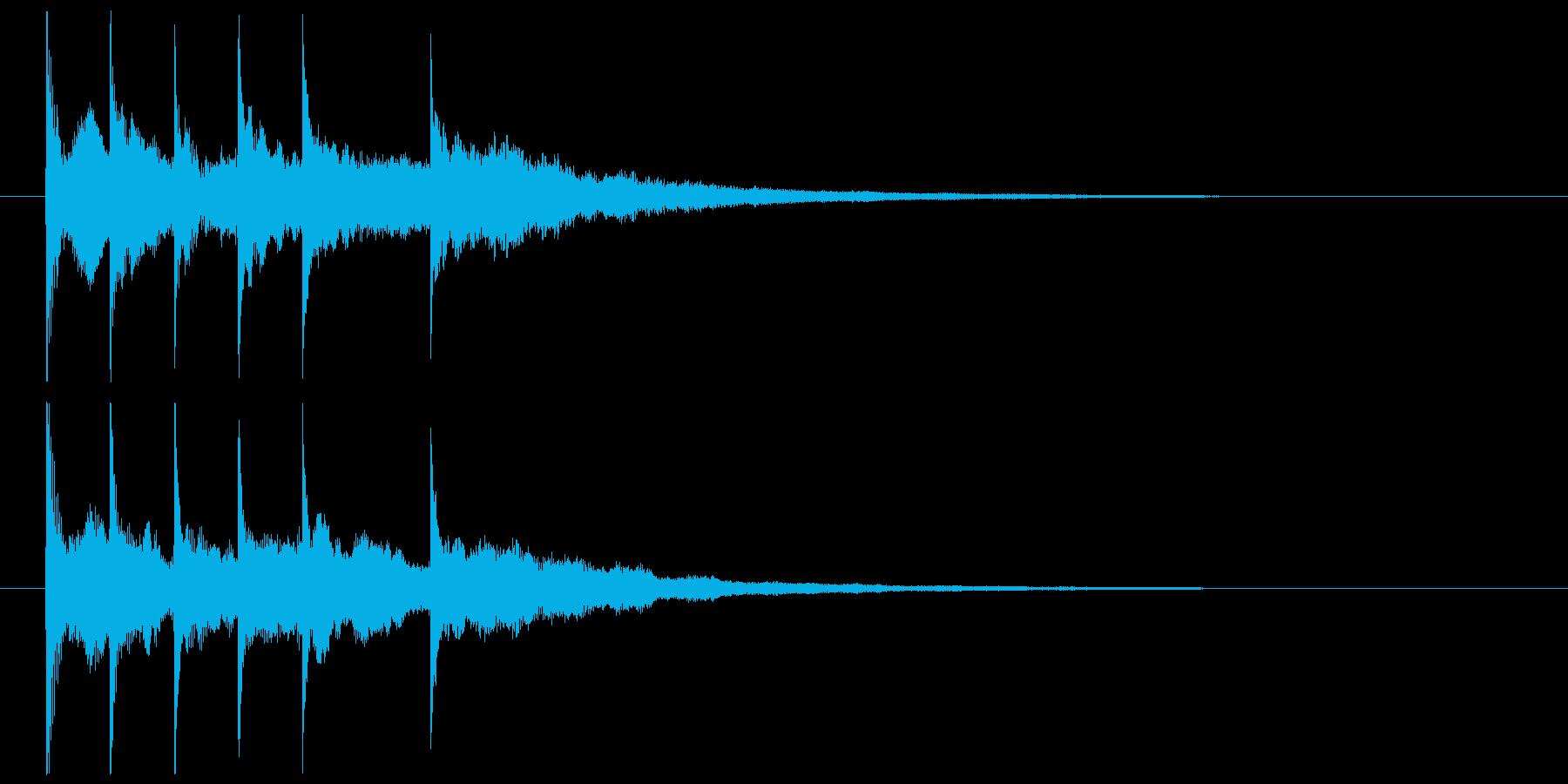 清涼感ある企業向けジングルサウンドロゴ6の再生済みの波形