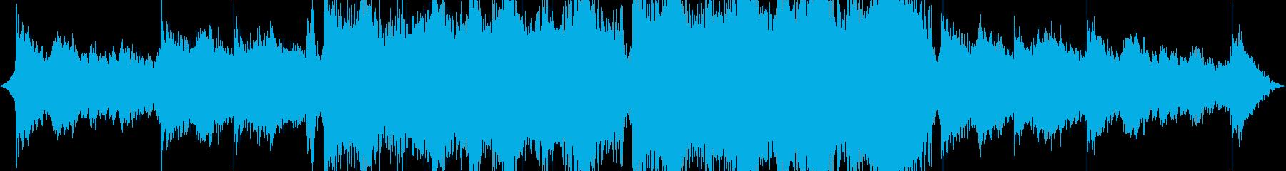 素晴らしい感動的なエピックトレーラーの再生済みの波形
