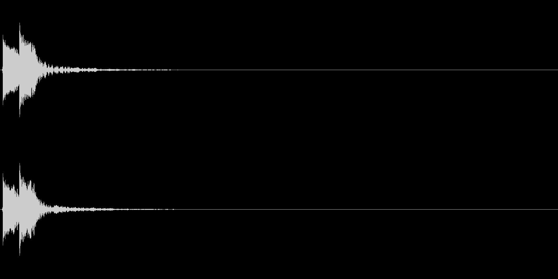 【アクセント02-4】の未再生の波形