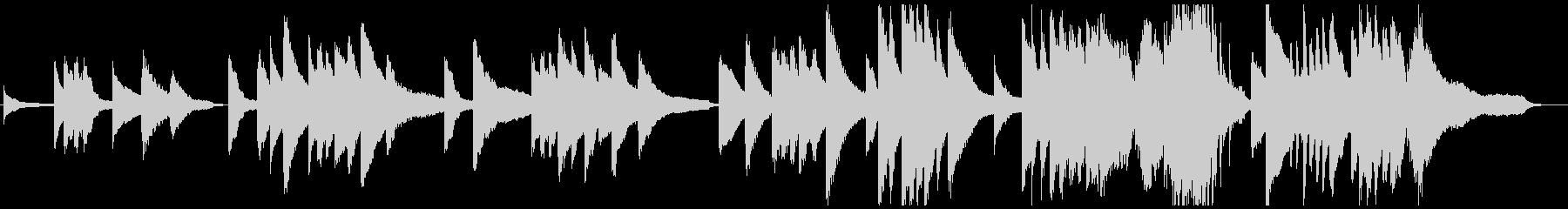 ドビュッシー風 印象派 癒し系ピアノの未再生の波形
