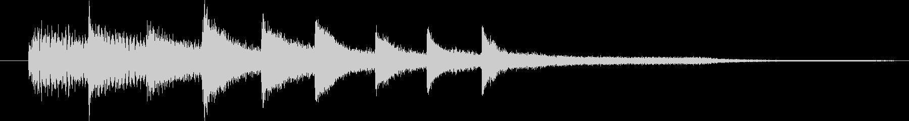 ピアノ転回音3の未再生の波形