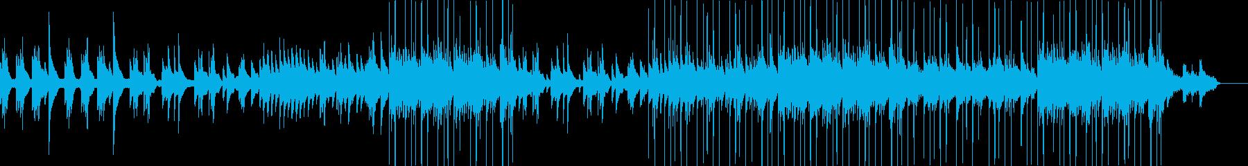 ハープの音色が美しいゆったり落ち着いた曲の再生済みの波形