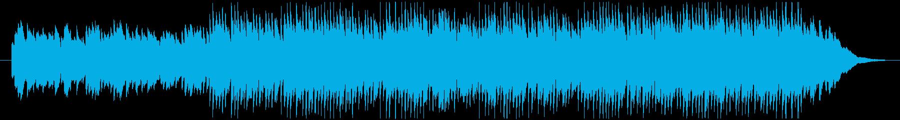 ランダムなピアノフレーズが印象的なBGMの再生済みの波形