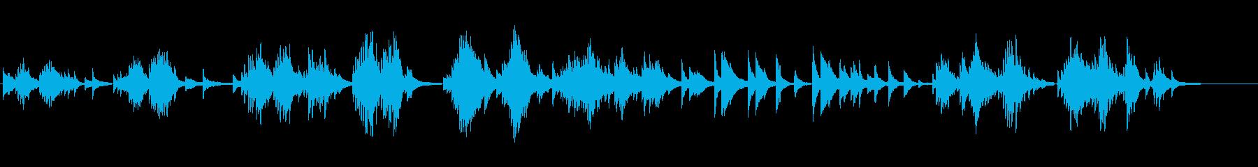 生ピアノソロ・窓辺の蝉の再生済みの波形