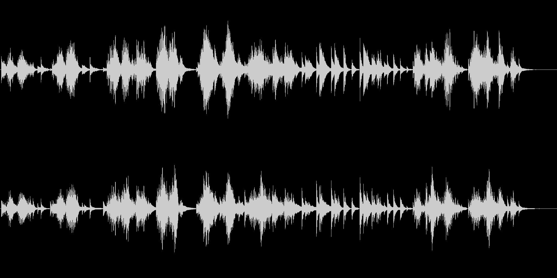 生ピアノソロ・窓辺の蝉の未再生の波形