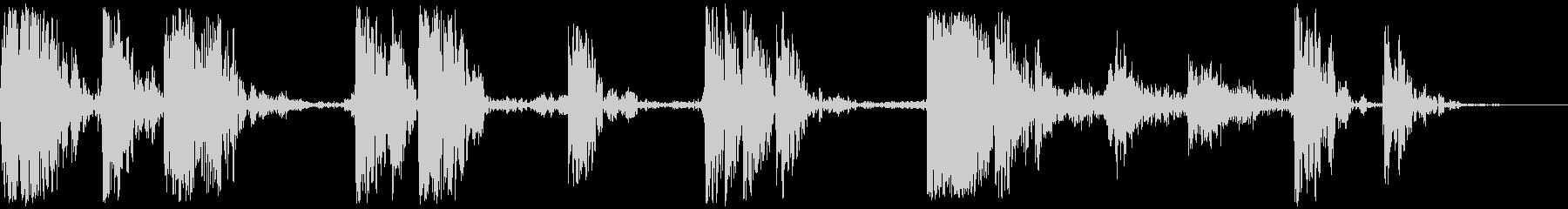 ヘビーウッドドロップとタンブル、フォリーの未再生の波形