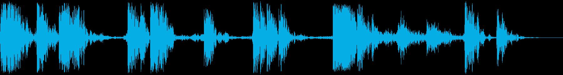 ヘビーウッドドロップとタンブル、フォリーの再生済みの波形