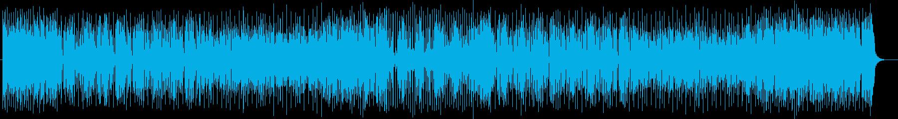 軽快でにぎやかなシンセサイザーのポップスの再生済みの波形