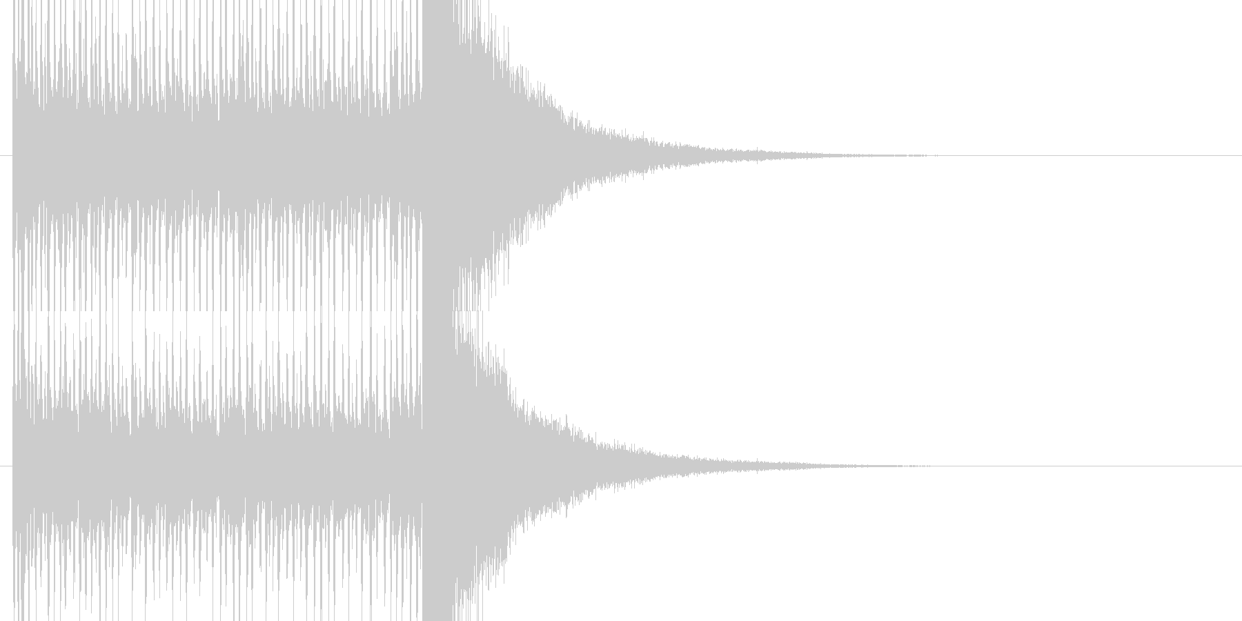 動画作成に最適なドラムロールの未再生の波形