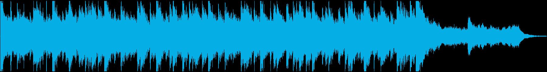 シタールなどインド楽器のサウンドロゴの再生済みの波形