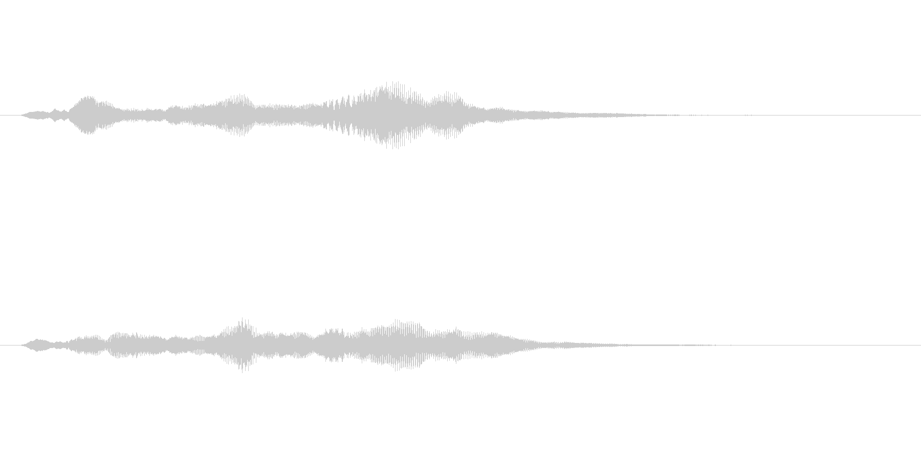 シンセサイザーによるサウンドロゴの未再生の波形