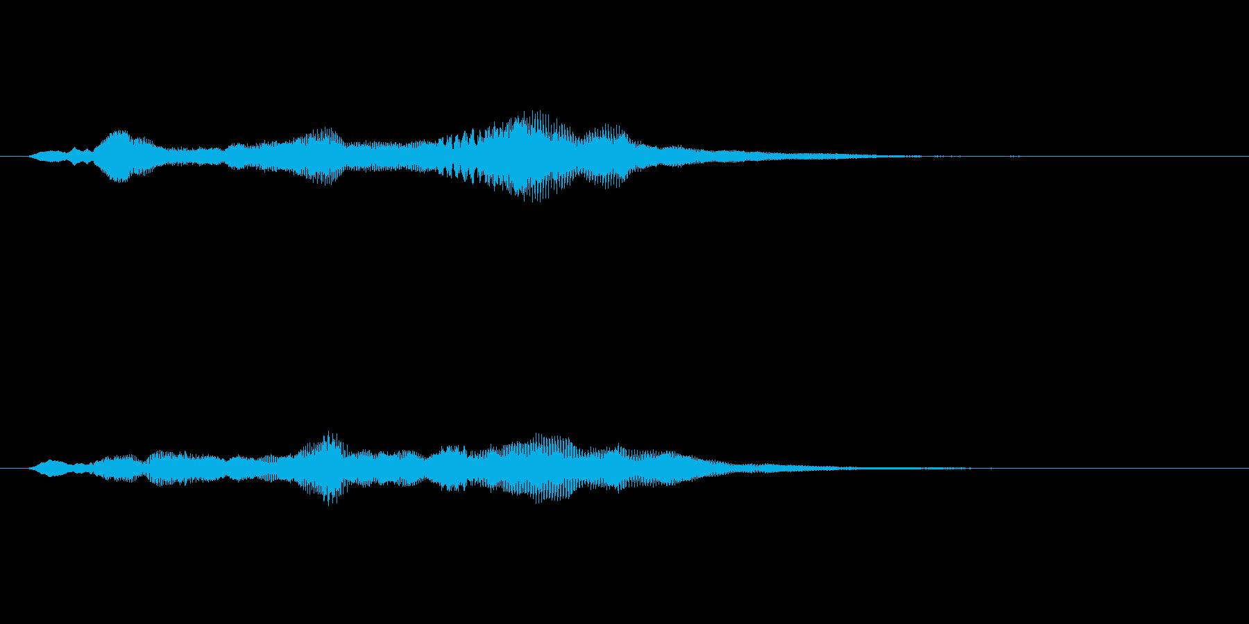 シンセサイザーによるサウンドロゴの再生済みの波形
