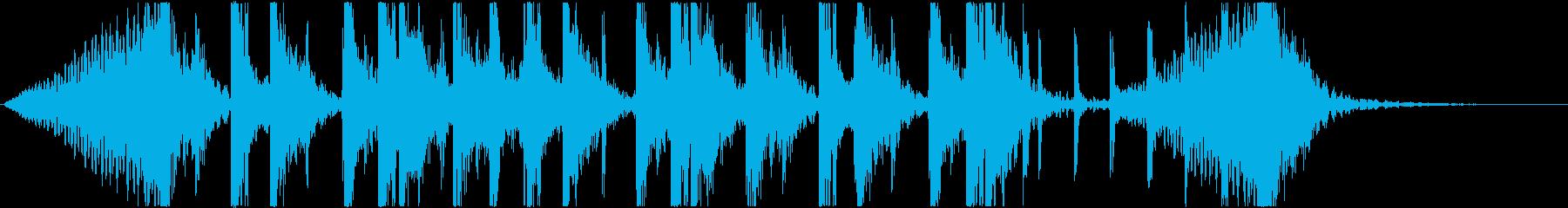 オープニングに最適な躍動感あるジングル4の再生済みの波形