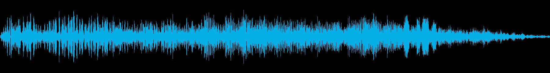 ビデオゲーム:シングルアクション電...の再生済みの波形