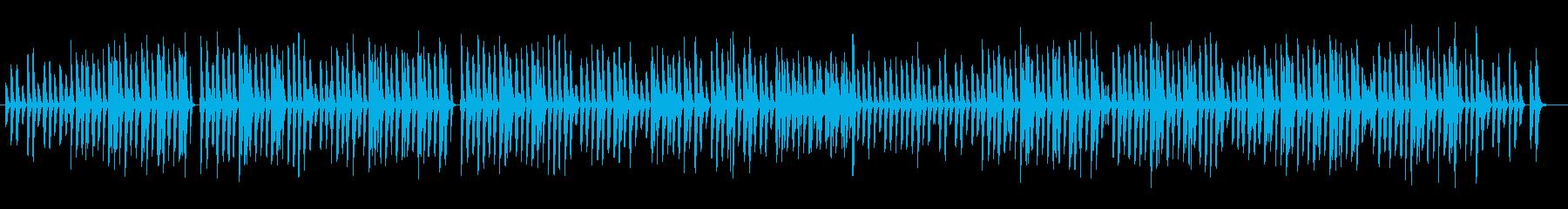 ほのぼのした軽快で可愛らし曲の再生済みの波形