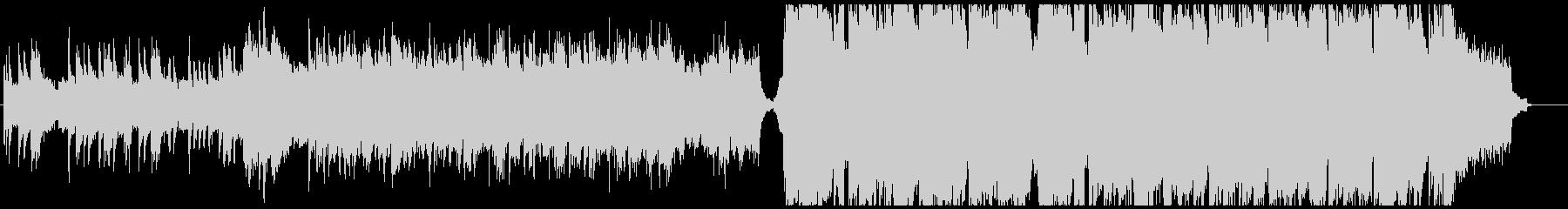 民族調×ウェディングの明るいワルツの未再生の波形