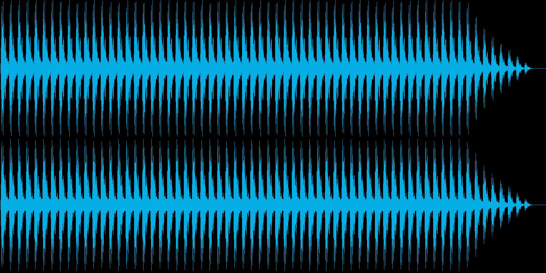 クリスマスの鈴(低め)の再生済みの波形