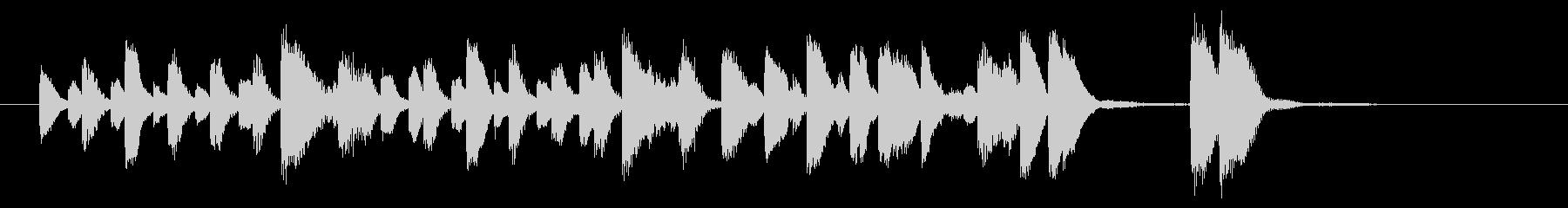 軽快なラグタイムピアノの未再生の波形