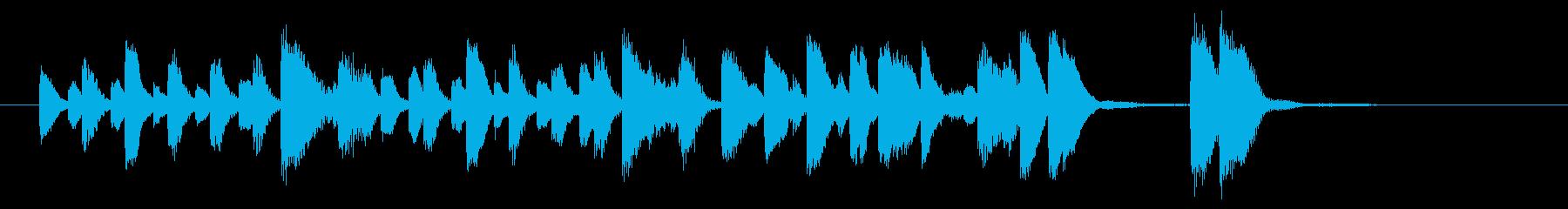 軽快なラグタイムピアノの再生済みの波形