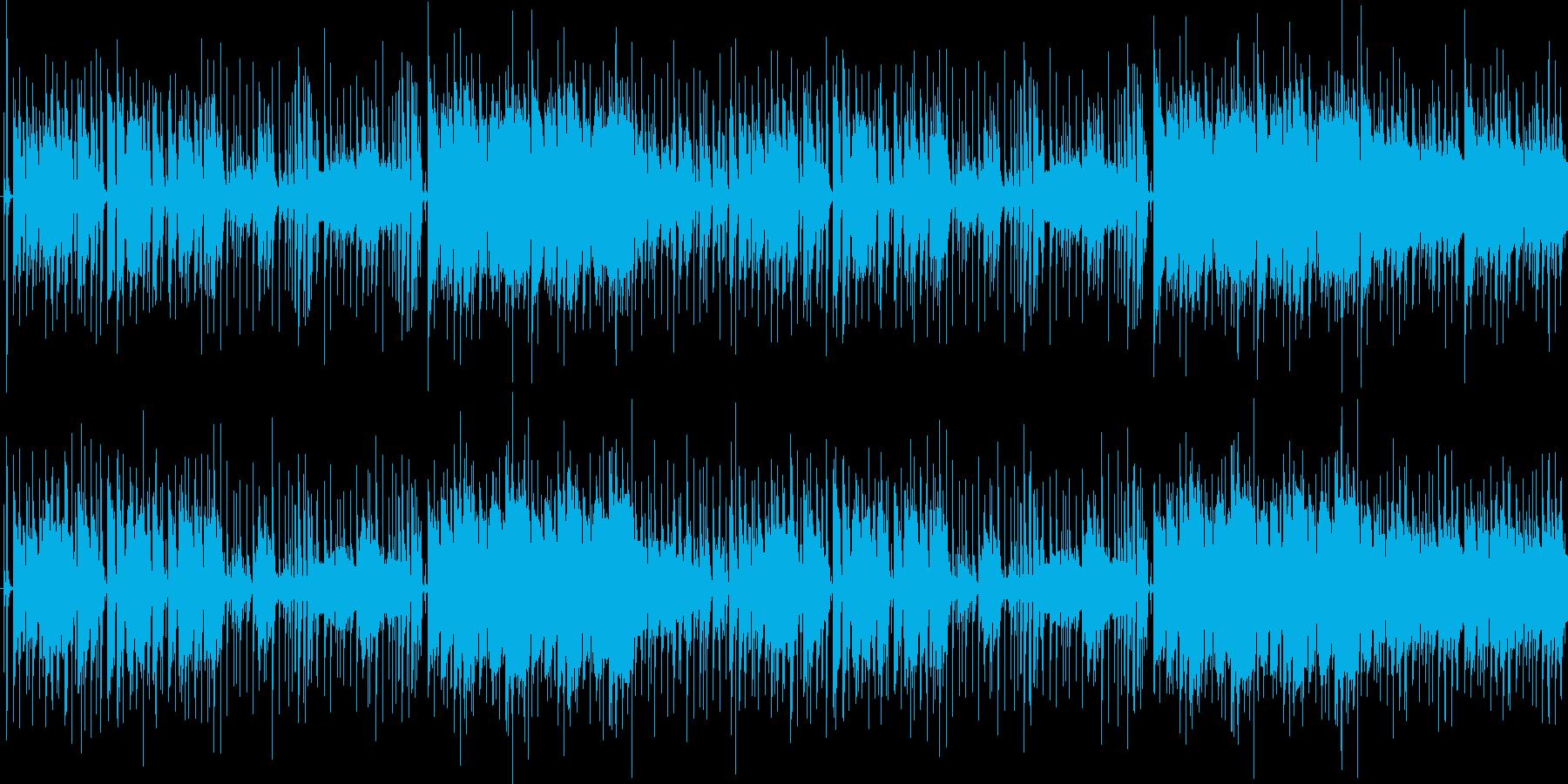 ジャズっぽいけどさわやかな曲の再生済みの波形
