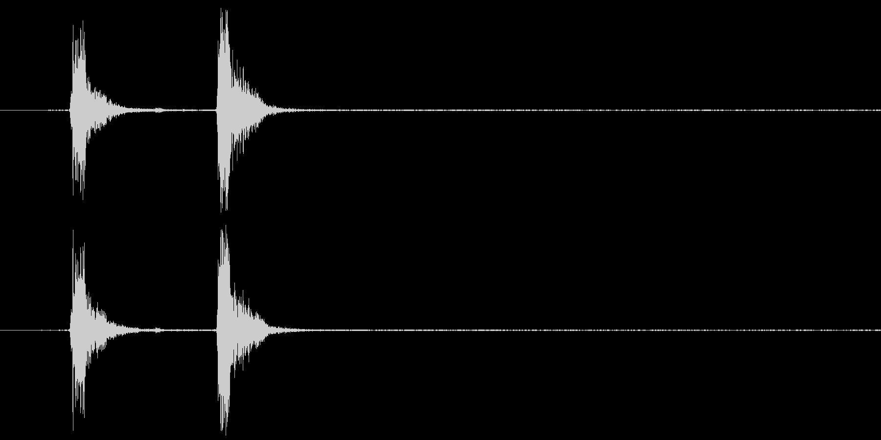 コンコン_咳4の未再生の波形