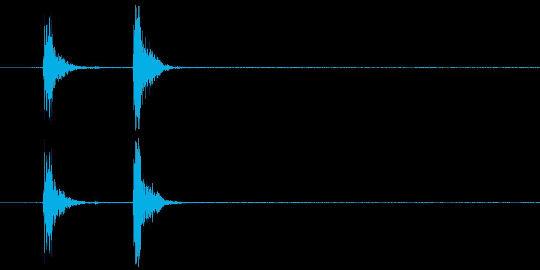 コンコン_咳4の再生済みの波形