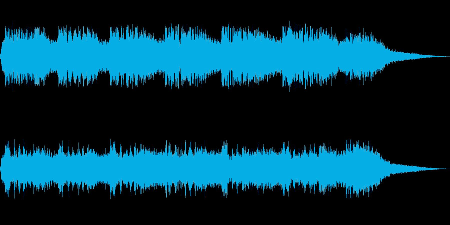 ミンミンゼミの鳴き声の再生済みの波形