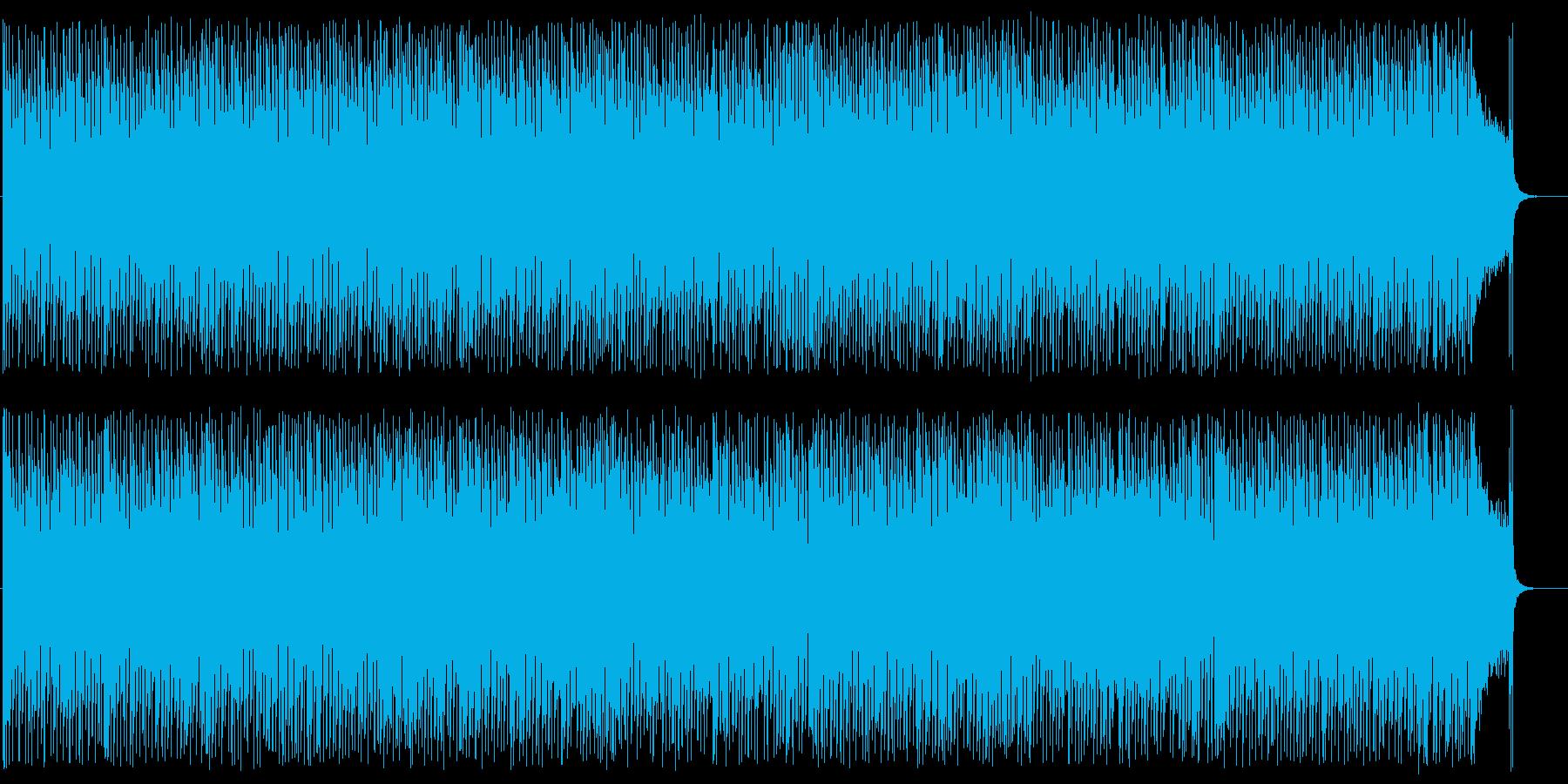 明るく軽快なフュージョン風の再生済みの波形