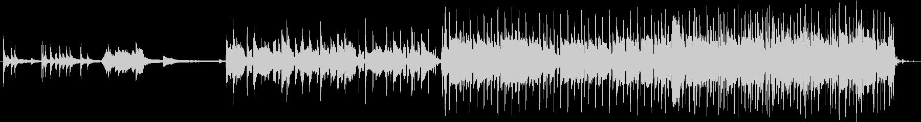 切ない曲調のバラードの未再生の波形