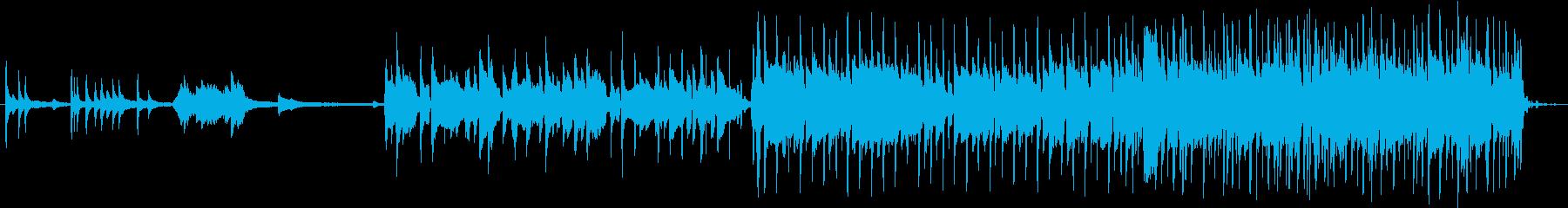 切ない曲調のバラードの再生済みの波形