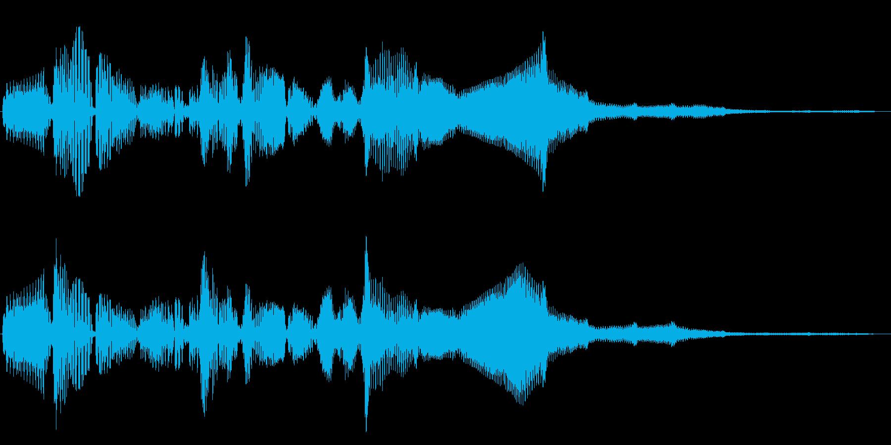 重い物を回しているような音の再生済みの波形