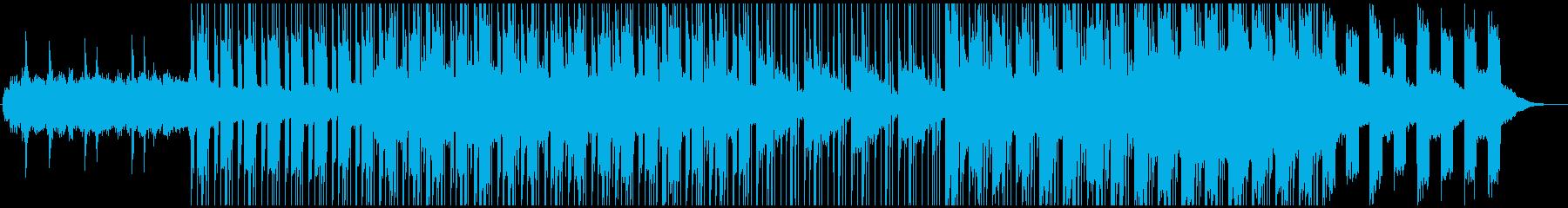 深夜に心の闇を彷徨っているアンビエント曲の再生済みの波形