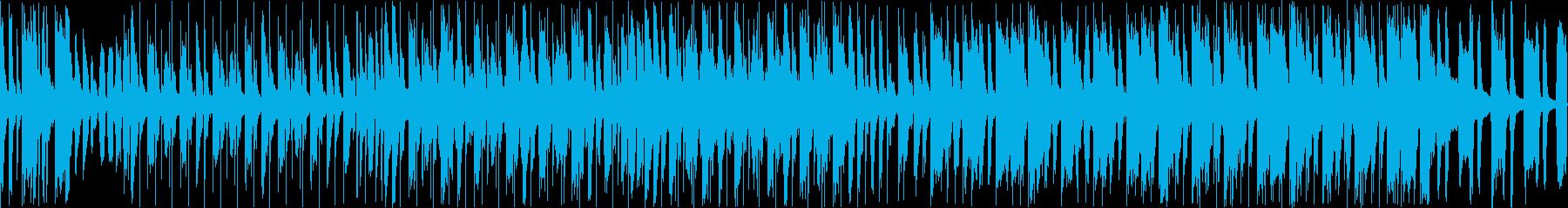 【ループ】遊園地で流れる賑やかなBGMの再生済みの波形