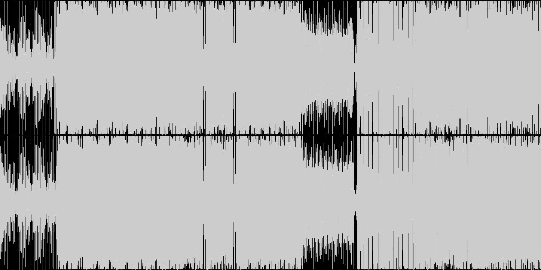 凶悪な雰囲気のメタル+ドラムンベースの未再生の波形