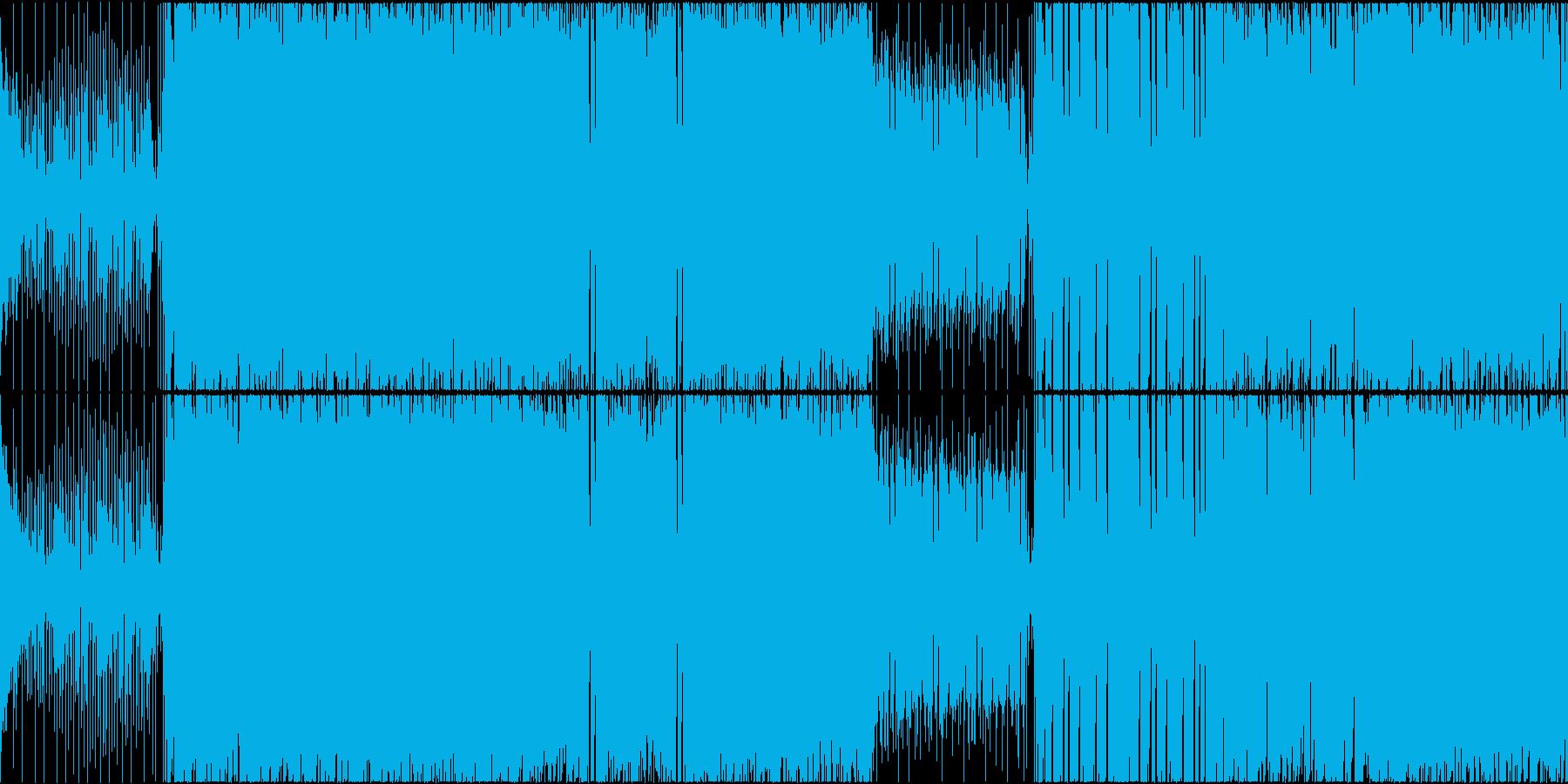 凶悪な雰囲気のメタル+ドラムンベースの再生済みの波形