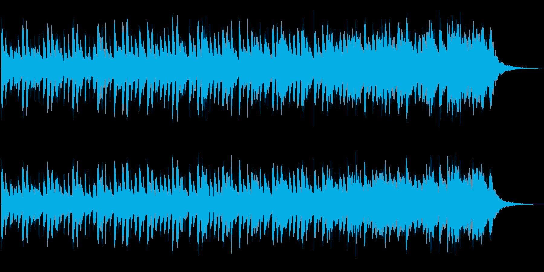 エスニック風のシンセジングルの再生済みの波形