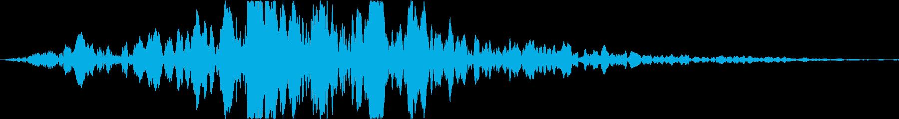 ドーン(映画CMでのタイトル表示音)の再生済みの波形