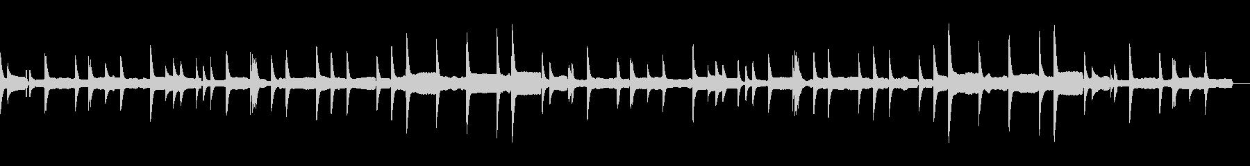 子守唄のような優しい音色のヒーリング曲の未再生の波形