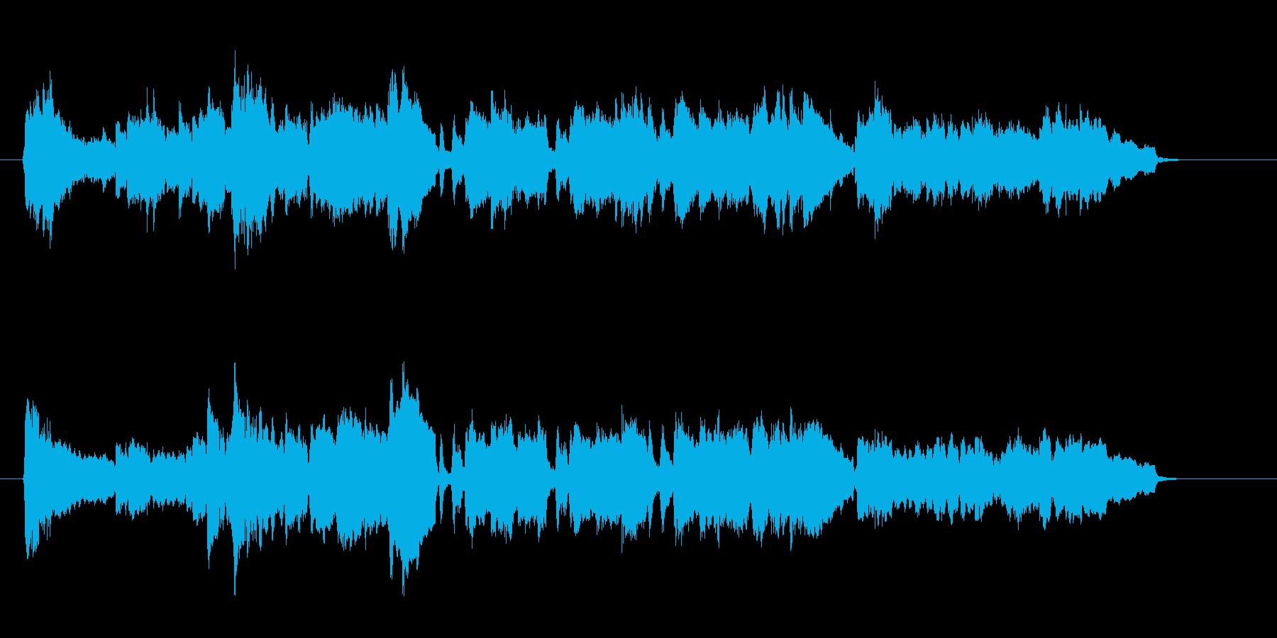 華やかなセミクラ風ナンバーの再生済みの波形