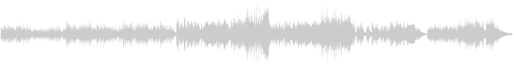 穏やかなピアノインストの未再生の波形