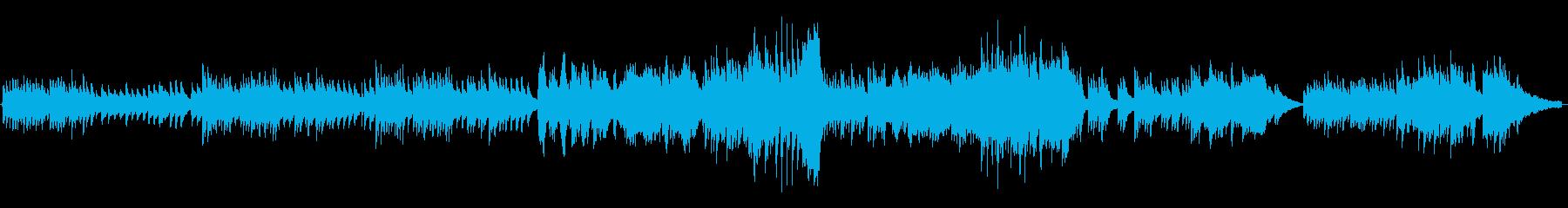 穏やかなピアノインストの再生済みの波形